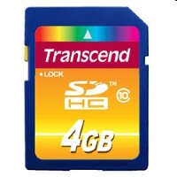 Карта памяти SecureDigital 4Gb Transcend, TS4GSDHC10, Class10