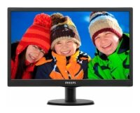 "МОНИТОР PHILIPS 193V5LSB2/10(62) 18.5"" Black (LED, LCD, Wide, 1366x768, 5 ms, 90°/65°, 200 cd/m, 10M:1)"