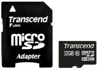 Карта памяти Micro SecureDigital 32Gb  Transcend Class 10