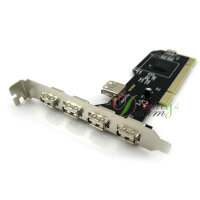 USB 2.0 5 PORT PCI HUB CARD HIGH SPEED ADAPTER
