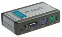 D-Link Цифровой переключатель KVM-121 2-port KVM Switch with build in cables