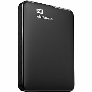 "Внешний жесткий диск HDD 1TB WDBUZG0010BBK-EESN Western Digital Elements , 2.5"", USB 3.0, Черный"